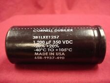(NEW) Cornell Dubilier 1200uF 350v 105C electrolytic Capacitor snap-in