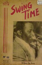 Swing time. Revue mensuelle du jazz. N° 33 - Septembre/Octobre 1954. RARE.