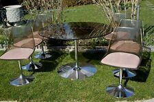 70 er Jahre Tulip Tischgruppe mit 6 Stühlen Acryl