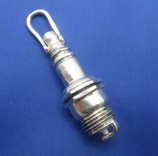 Large Sterling Silver Engine Spark Plug Mechanics Pendant Tools Gadgets Jewelry