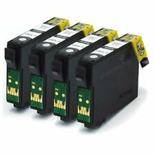 4 Black Compatible (non-OEM) Printer Ink Cartridges to replace T1281
