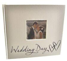 "Juliana White / Cream Pearlised Photo Album 6"" x 4"" - Wedding Day"