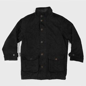 Paul & Shark Wool Alpaca Pea Coat Long Jacket Made In Italy Dark Grey Men's M