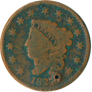 UNITED STATES / 1827 CORONET HEAD LARGE CENT / LIBERTY  #WT4872