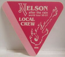 NELSON - VINTAGE ORIGINAL CLOTH TOUR CONCERT BACKSTAGE PASS ***LAST ONE***