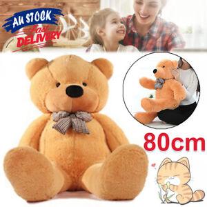 80cm Animal Gift Plush Cuddly Teddy Christmas Doll Bear Brown Giant Stuffed ACB#