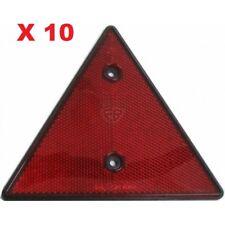 2 reflecteurs de signalisation rond rouge à vis diam 60 mm remorque caravane