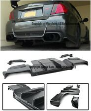 For 11-14 Subaru Impreza WRX STi Rear Bumper Lower Spoiler Air Flow Diffuser Lip