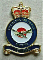 V-DAY 1945 - 2020 MILITARY ENAMEL BADGE RAF *SPITFIRE* VETERAN POPPY DAY