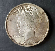(1) Peace Dollars - 1922-P - 90% Silver - About Uncirculated