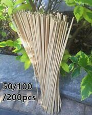 50/100/200pcs Garden Bamboo Stick Pole Support 40cm Dia4mm DIY