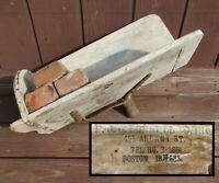 Antique 1940s P J O'DONNELL BOSTON MA Hand Made Brick Hod~Mason/Bricklayer Tool