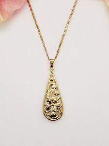 Hawaiian Heirloom Teardrop Pendant Necklace
