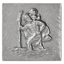 Metall Stockschild Relief Plakette Heiliger Sankt St. Christophorus Stocknagel
