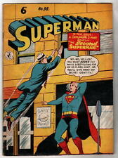 Australian SUPERMAN 98 DC Comics 1950's w Superman 119 cover UK