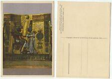 01652 - Tut-Ench-Amun - Thronstuhl - alte Ansichtskarte