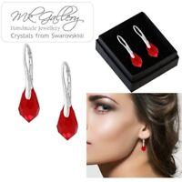 925 Sterling Silver Earrings/Set 11mm Teardrop Drop Crystals from Swarovski®