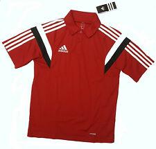 Adidas Polo Climalite Fitness Soccer Deporte Ocio Hombre Camiseta 76955 Rojo