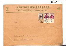 AG195 1943 SLOVAKIA Bratislava Newswrapper via Vienna Gestapo Censor/Prague WW2