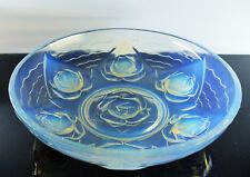 Large Cut Glass Molded Opalescent Art Deco Verlys Etling Sabino Ezan