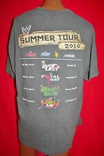 WWE Summer Tour 2010 HD CREW ONLY T-SHIRT XL Raw SUMMER SLAM Smack Down RARE