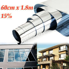 """24""""x71"""" Silver 15% Tint Window Film One Way Mirror Privacy Tinting Reflective"""