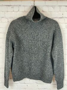 VINCE. gray oversized knit turtleneck drop shoulders long sleeve sweater top XS