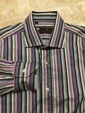 Etro Milano Mens Button Down Long Sleeve Shirt International Size Large (41)