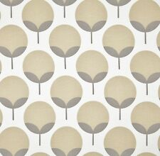 Outdoor/ Indoor ~ Upholstery ~RETRO TREES ~Sand & Grey ~Fabric~ per 1/4 yd