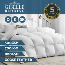 Giselle Goose Down Feather Quilt 500/700/800GSM All Season Duvet Cover Doona