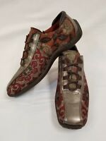 Donald Pliner Sport Fabric & Leather Degree Womans 7.5M Lace Up Shoe Italy