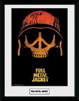 Full Metal Jacket 1987 Peace Skull Helm Collector Print Frame Poster Bild Rahmen