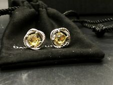 Yellow Citrine 7Mm Infinity Earrings New listing