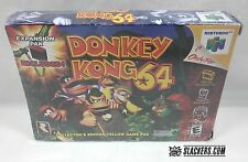 DONKEY KONG 64 (Nintendo 64 1999) LN in Shrink! w/ EXPANSION PAK N64 Yellow Cart
