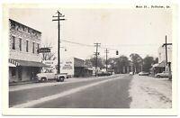Folkston Georgia Postcard Main Street, Drug Store, Hardware Store #83146