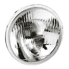 "2 104P Semi Sealed Beam Flat Headlight 5-3/4"" Round 146mm with H4 Globe 12V 24V"