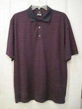 Mens Nike Golf Fit Dry Polo Navy & Maroon Large Polyester Rayon Blend