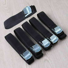 SET OF 6 LASHING STRAPS CARGO LUGGAGE TIE DOWN CAM BUCKLE ROOF RACK 2.5M X 25MM