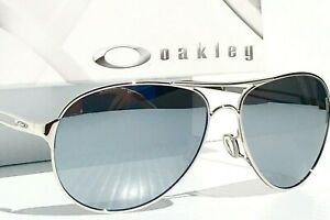 NEW* Oakley CAVEAT Silver POLARIZED Chrome Mirror Women's Aviator Sunglass 4054