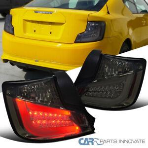 For 11-13 Scion tC LED Bar Smoke Lens Rear Tail Lights Tinted Brake Lamps Pair