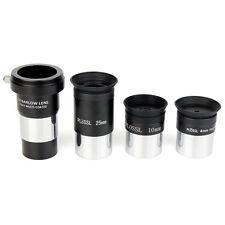 """1.25"""" Plossl Telescope Eyepiece Set 4/10/25mm+2X Barlow Lens Kit for Astronomy"""