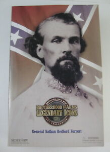 """Brotherhood of Arms Legendary Icons 12"""" Fig. CSA Gen Nathan Bedford Forrest NRFB"""