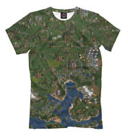 Heroes of Might and Magic t-shirt - Map print gamer fan clothes tee old school