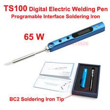 65W TS100 Digital Electric Welding Pen Programable Interface Soldering Iron