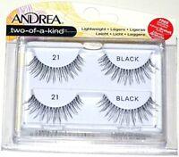LOT OF 20 Packs New Andrea Two Of A Kind False Lash Lightweight Eyelash #21 DEAL