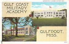 Gulfport Mississippi Military Academy Multiview Antique Postcard K73373