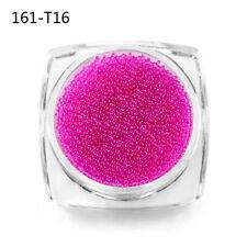 Multi-color Glitter Caviar Mini Micro Beads Tips 3D Nail Art Acrylic UV Gel Set