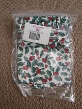 NEW Longaberger Winter Wishes Basket Traditional Holly OTE Liner ONLY NIP