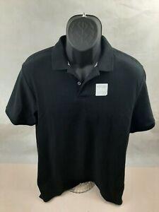 Old Navy Mens Short Sleeve Polo Shirt Large Black NWT