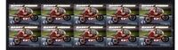BARRY SHEENE MOTORCYCLE LEGEND STRIP OF 10 MINT VIGNETTE STAMPS1